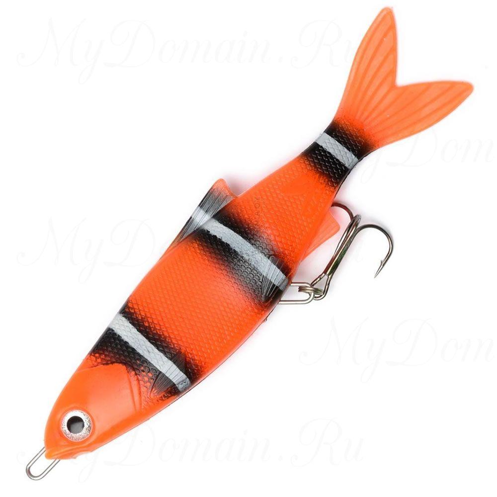 Блесна силиконовая Wake Soft Spoon 10см./16гр. Clown Fish