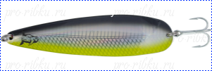 Блесна троллинговая колеблющаяся Rhino Trolling Spoons I MAG 16g, 115 mm, #018 Black davil yellow belly