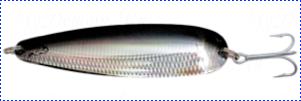 Блесна троллинговая колеблющаяся Rhino Trolling Spoons I модель Xtra MAG 115 мм, 27 гр., расцветка: Black Devil