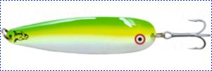 Блесна троллинговая колеблющаяся Rhino Trolling Spoons I модель Xtra MAG 115 мм, 27 гр., расцветка: Beluga