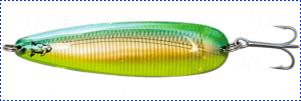 Блесна троллинговая колеблющаяся Rhino Trolling Spoons I модель Xtra MAG 115 мм, 27 гр., расцветка: Gold Green Dolphin