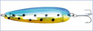 Блесна троллинговая колеблющаяся Rhino Trolling Spoons I модель Xtra MAG 115 мм, 27 гр., расцветка: swedish flag
