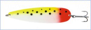 Блесна троллинговая колеблющаяся Rhino Trolling Spoons I модель Xtra MAG 115 мм, 27 гр., расцветка: Bloody tail