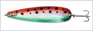 Блесна троллинговая колеблющаяся Rhino Trolling Spoons I модель Xtra MAG 115 мм, 27 гр., расцветка: Watermelon
