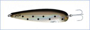 Блесна троллинговая колеблющаяся Rhino Trolling Spoons I модель Xtra MAG 115 мм, 27 гр., расцветка: Black Gold Angel