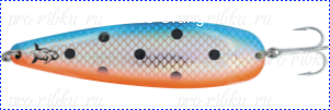 Блесна троллинговая колеблющаяся Rhino Trolling Spoons II модель MAG 115 мм, 16 гр., расцветка: natural copper blue orange dolphin