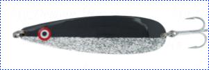 Блесна троллинговая колеблющаяся Rhino Trolling Spoons II модель MAG 115 мм, 16 гр., расцветка: michael jackson