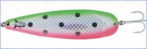Блесна троллинговая колеблющаяся Rhino Trolling Spoons I модель Xtra MAG 115 мм, 27 гр., расцветка:Fluo watermelon