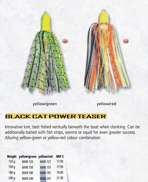 Приманка для ловли сома на квок Black Cat Power Teaser, yellowgreen, 180гр.