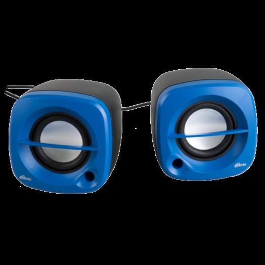 Мультимедийные колонки Ritmix SP-2030 Black+Blue