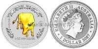 1 доллар 2007 года, Австралия, Год Быка 2009