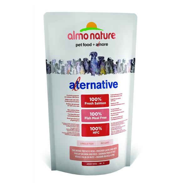 Корм сухой Almo nature Alternative для собак средних и крупных пород с лососем и рисом 9,5кг