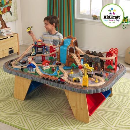 Деревянная железная дорога со столом kidkraft 17498
