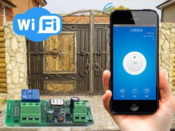 Sonoff Wi-Fi толчковый переключатель Sonoff  5-12 вольт (работает с IOS и Android)
