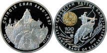 100 тенге 2008 года Республики Казахстан. Великие полководцы. Чингиз-Хан