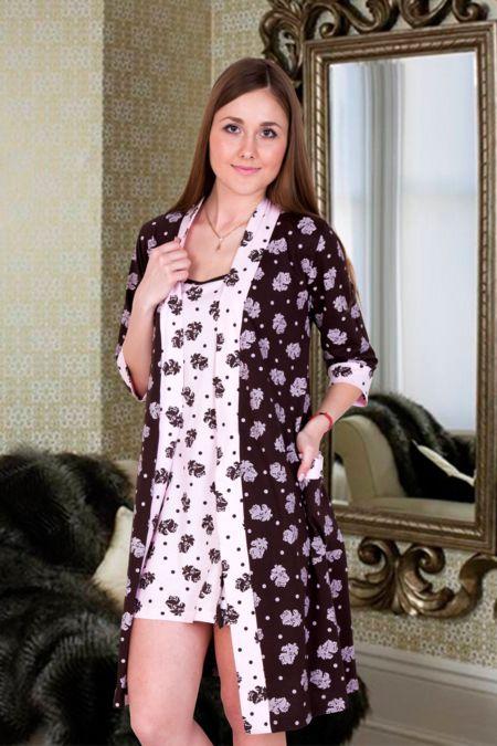 "Комплект ""Шоколадница"" (халат и сорочка)"