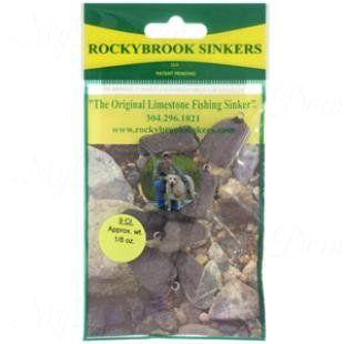 Грузила RockyBrookSinkers Class 1, камень от 0,5 до 3,5гр, кольцо, в уп.9шт. 0,5гр(1/64 OZ.)-9шт.