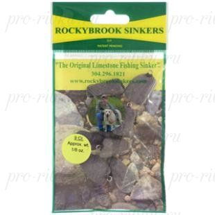 Грузила RockyBrookSinkers Class 2, камень от 5,3 до 14гр.,вертлюг, в уп.5шт. 5,3гр(3/16 OZ.)-5шт.