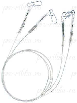 "Поводок ZETTECH ""ЛАЙТ"" материал HardMono; до 7 кг; 25см; упак. 2шт (Zttch-P-HM-LT-7kg-25sm-2)"