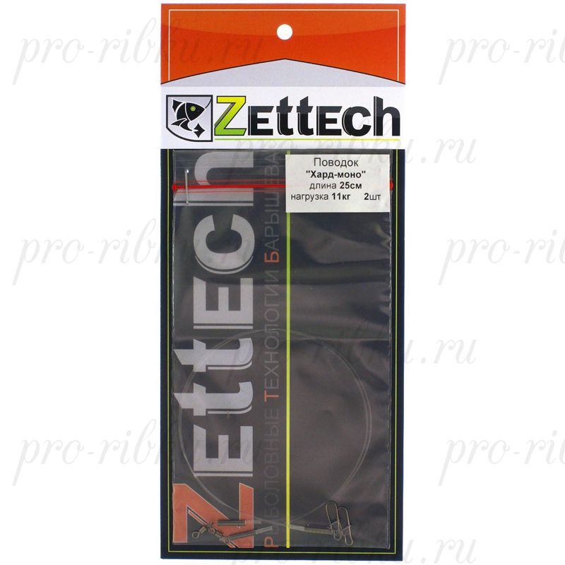 "Поводок ZETTECH, материал ""HardMONO""до 18 кг; 25см; в упаковке 2 шт (Zttch-P-HM-18kg-25sm-2pcs)"