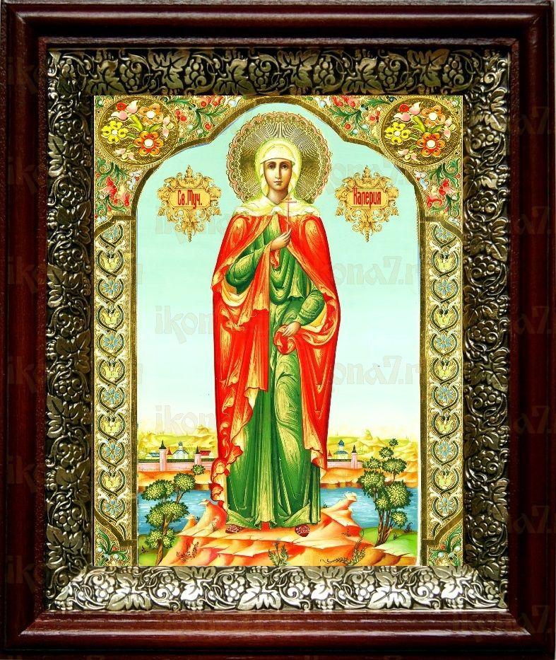 Валерия Кесарийская (19х22), темный киот