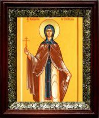 Василиса Египетская (19х22), темный киот