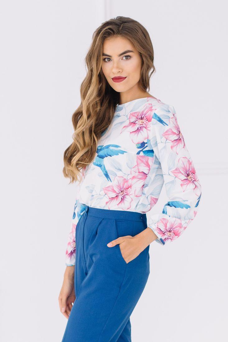 s1508 Блуза с колибри