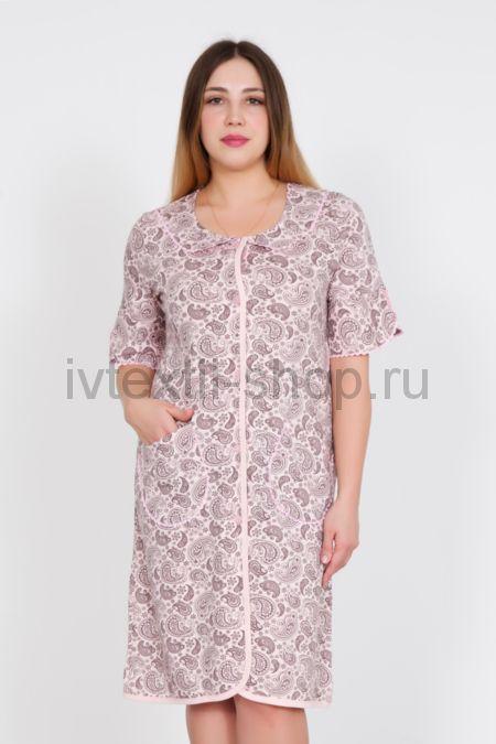b632a4d7e36e7 Купить недорого женский домашний трикотажный халат