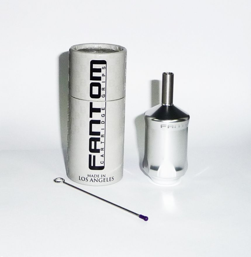 Fantom Aluminum Tube Cartridge Grip - Platinum Silver
