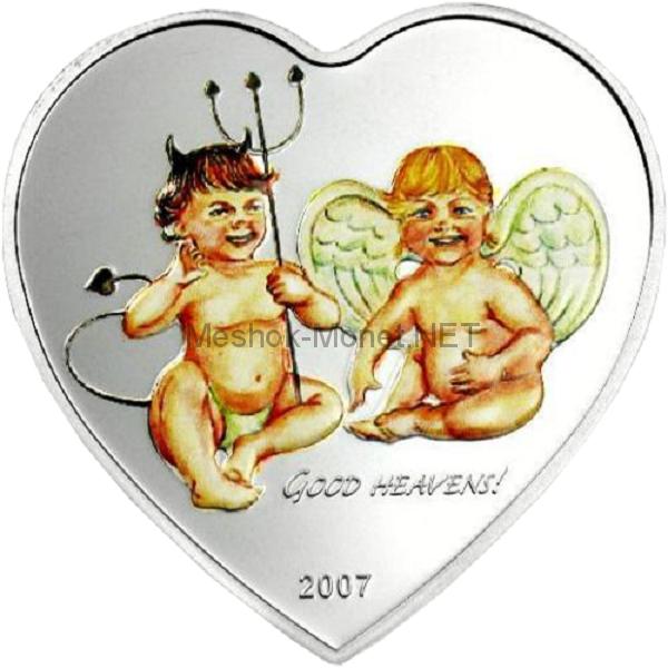 5 долларов 2007 года, Палау, Ангел и Дьявол