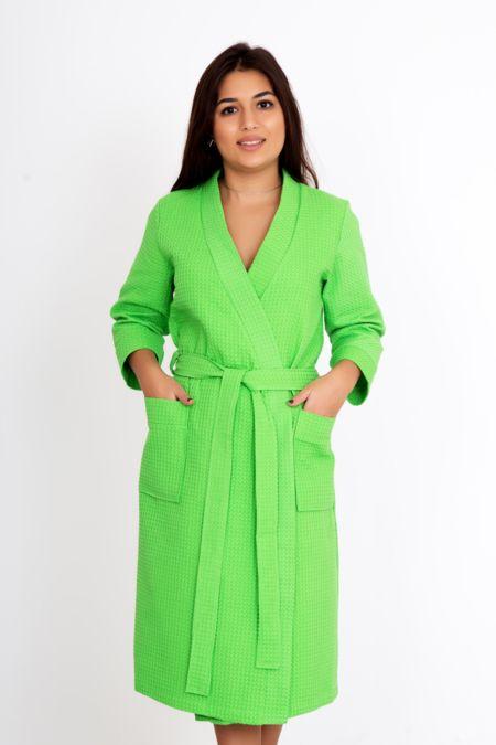 Банный зеленый халат