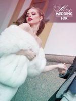 Свадебный меховой палантин из песца высшего качества SAGA ROYAL.купить фото отзывы форум