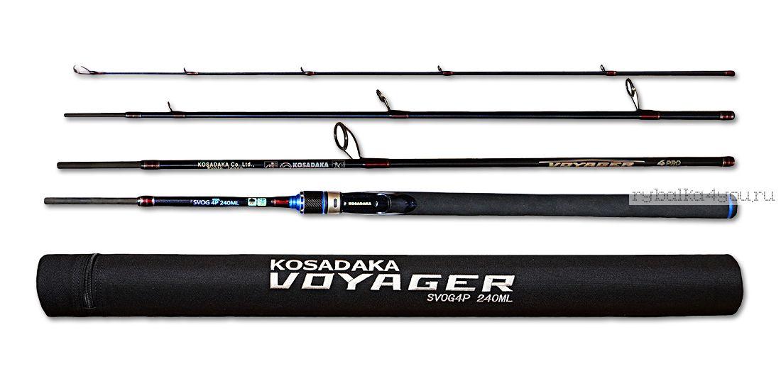 Купить Спиннинг Kosadaka Voyager 4Pro (в тубусе) 4 секции 2,10м (10-35г)