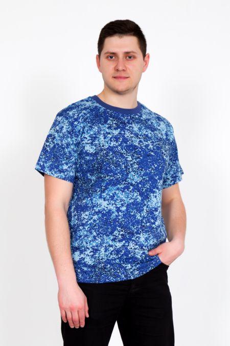 "Мужская футболка ""Хаки голубая"""