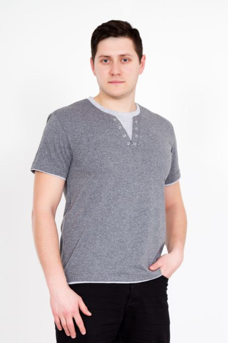"""Мужская футболка """"Джон"""" серая"""