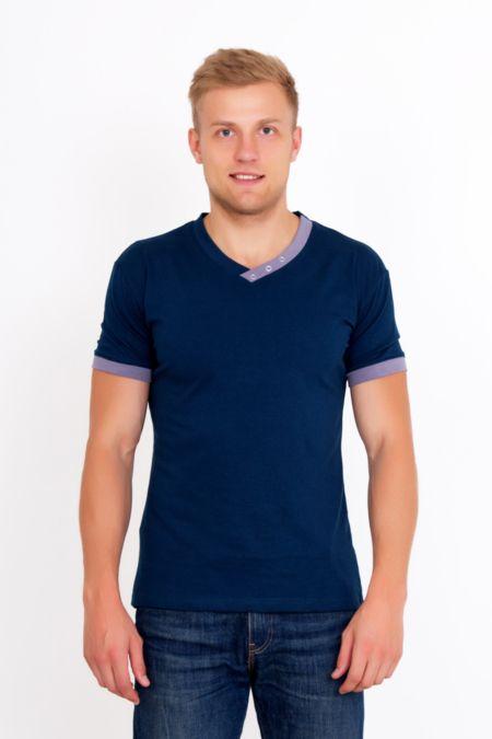 """Мужская футболка """"Давид"""" т.синяя"""