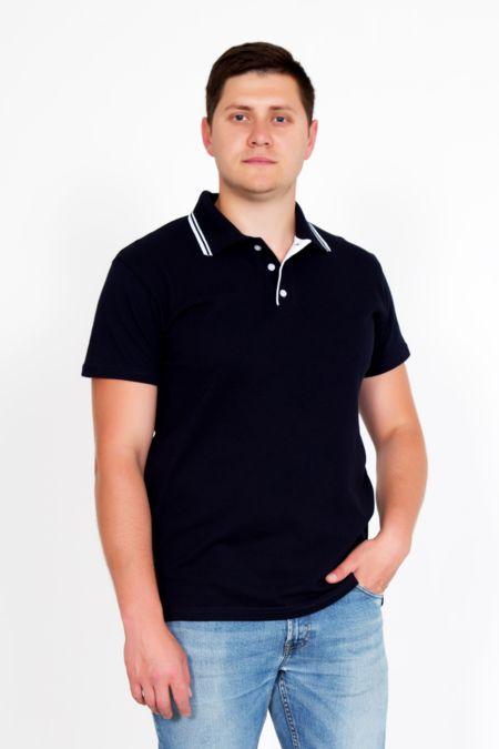 Мужская футболка поло т.синяя