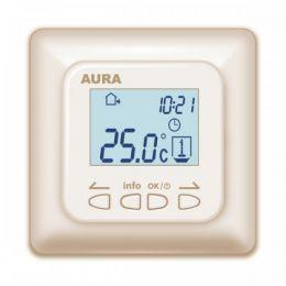Регулятор температуры (терморегулятор) электронный AURA LTC 730 (кремовый)