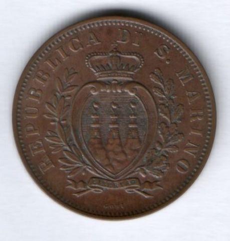 10 чентезимо 1893 г. Сан-Марино