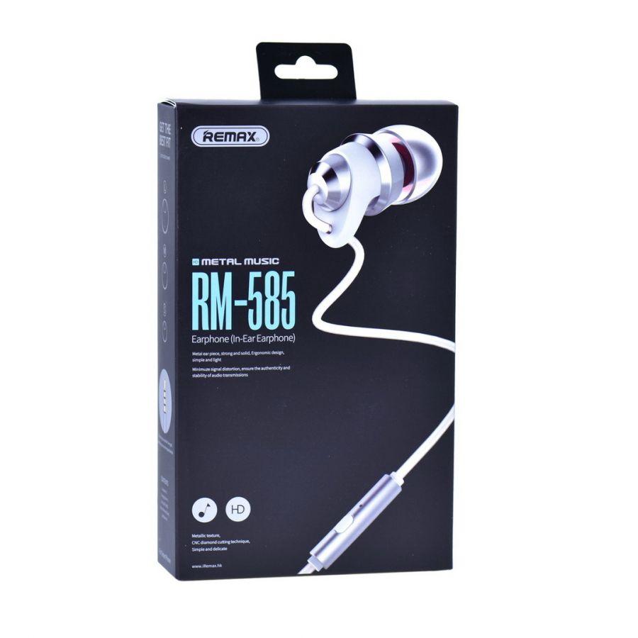 Наушники вакуумные - гарнитура Remax RM-585 (белый)
