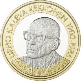 Урхо Калева Кекконен (1900-1986) 5 евро Финляндия 2017