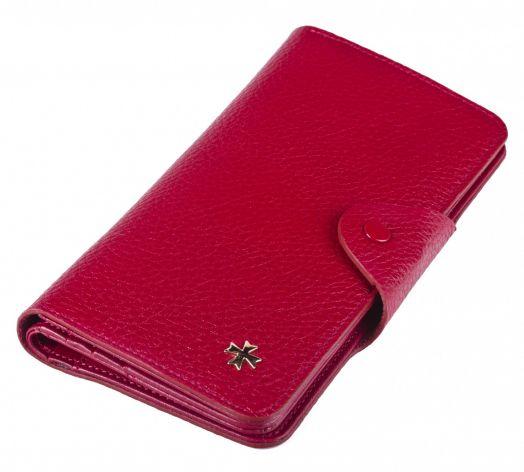 Бумажник кожаный NarVin 9650-N.Polo Red