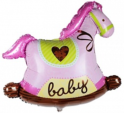 Лошадка для девочки фольгированный шар с гелием