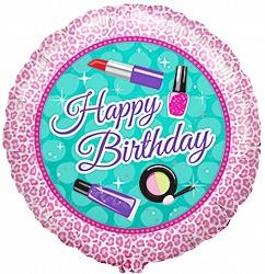 Моднице красавице С Днем Рождения шар фольгированный с гелием