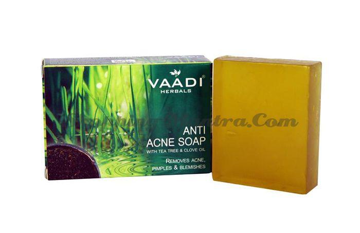 Мыло против прыщей Гвоздика&Масло чайного дерева Ваади (Vaadi Anti-Acne Soap Clove&Tea Tree Oil)