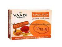 Отбеливающее мыло для лица Сандал & Шафран &Турмерик Вади | Vaadi Sandal & Saffron & Turmeric Soap