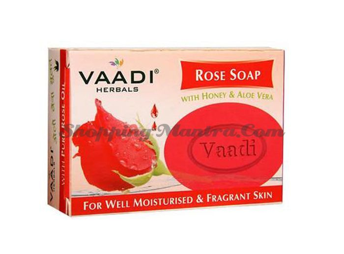Мыло против пигментации Роза&Шелковица Ваади (Vaadi Rose Soap with Mulberry Extract)