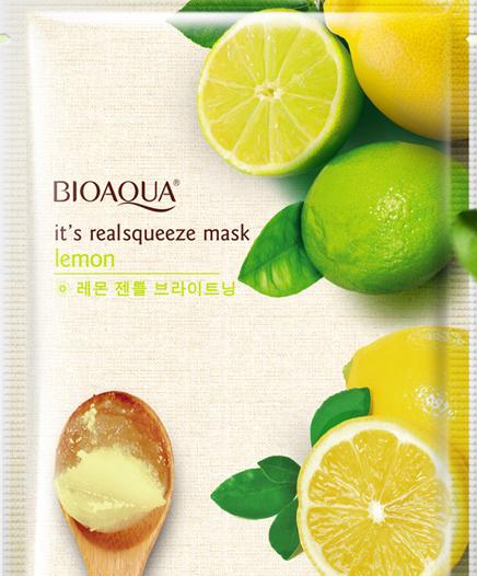 Тонизирующая маска «BIOAQUA» с соком свежего лимона (2713)