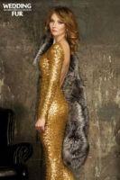 Пелерина из серебристо-черной лисы с шелковой подкладкой купить в Москве