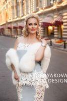 Меховой палантин купить в Москве фото цены